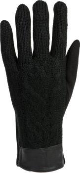 styleBREAKER Damen Touchscreen Handschuhe, Oberseite mit Zopfmuster, Fleece Futter, warme Thermo Fingerhandschuhe, Winter 09010024 – Bild 6
