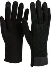 styleBREAKER Damen Touchscreen Handschuhe, Oberseite mit Zopfmuster, Fleece Futter, warme Thermo Fingerhandschuhe, Winter 09010024 – Bild 5