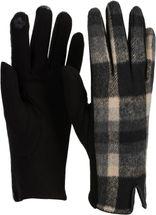 styleBREAKER Damen Touchscreen Handschuhe mit Oberseite in Karo Optik und Fleece Futter, Fingerhandschuhe, Winter 09010025 – Bild 6