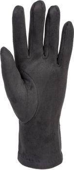 styleBREAKER Damen Unifarbene Stoff Handschuhe mit Ziernähten und Fleece Futter, Fingerhandschuhe, Winter 09010027 – Bild 15