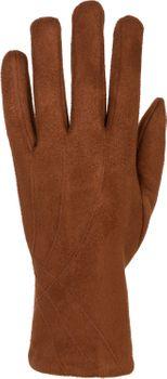 styleBREAKER Damen Unifarbene Stoff Handschuhe mit Ziernähten und Fleece Futter, warme Thermo Fingerhandschuhe, Winter 09010027 – Bild 26