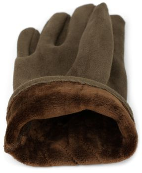 styleBREAKER Damen Unifarbene Stoff Handschuhe mit Ziernähten und Fleece Futter, warme Thermo Fingerhandschuhe, Winter 09010027 – Bild 32