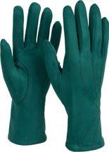 styleBREAKER Damen Unifarbene Stoff Handschuhe mit Ziernähten und Fleece Futter, Fingerhandschuhe, Winter 09010027 – Bild 5