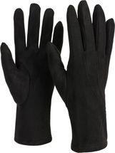 styleBREAKER Damen Unifarbene Stoff Handschuhe mit Ziernähten und Fleece Futter, Fingerhandschuhe, Winter 09010027 – Bild 9