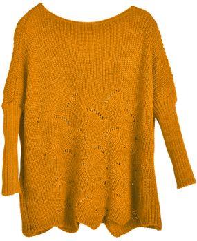 styleBREAKER Damen Oversize Strickpullover mit Ajourmuster und langen Ärmeln, U-Boot Ausschnitt, Poncho, Onesize 08010066 – Bild 13