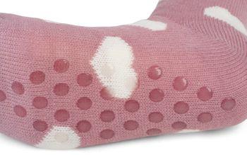 styleBREAKER Damen ABS Stoppersocken mit Teddyfutter und Herzen Muster, ABS-Socken, Größe 35-42 EU / 5-10 US / 4-8 UK 08030007 – Bild 10