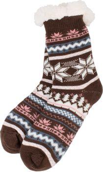 styleBREAKER Damen ABS Stoppersocken Kuschelsocken mit Teddyfutter und Norweger Muster Mix, ABS-Socken, Größe 35-42 EU / 5-10 US / 4-8 UK 08030008 – Bild 23