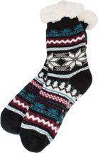 styleBREAKER Damen ABS Stoppersocken Kuschelsocken mit Teddyfutter und Norweger Muster Mix, ABS-Socken, Größe 35-42 EU / 5-10 US / 4-8 UK 08030008 – Bild 3