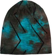 styleBREAKER Unisex Beanie Mütze mit Batik Verlauf Muster und Rissen im Destroyed Look, Slouch Longbeanie 04024173 – Bild 4