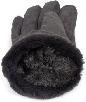 styleBREAKER Damen Unifarbene Touchscreen Stoff Handschuhe mit Fleece Futter und Ziernähten, Fingerhandschuhe, Winter 09010028 – Bild 15