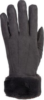 styleBREAKER Damen Unifarbene Touchscreen Stoff Handschuhe mit Fleece Futter und Ziernähten, Fingerhandschuhe, Winter 09010028 – Bild 12