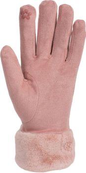styleBREAKER Damen Unifarbene Touchscreen Stoff Handschuhe mit Fleece Futter und Ziernähten, warme Thermo Fingerhandschuhe, Winter 09010028 – Bild 18