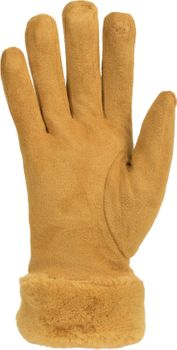 styleBREAKER Damen Unifarbene Touchscreen Stoff Handschuhe mit Fleece Futter und Ziernähten, Fingerhandschuhe, Winter 09010028 – Bild 3