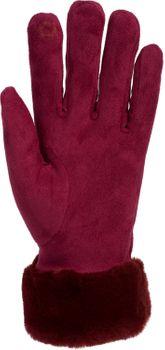 styleBREAKER Damen Unifarbene Touchscreen Stoff Handschuhe mit Fleece Futter und Ziernähten, Fingerhandschuhe, Winter 09010028 – Bild 28