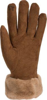 styleBREAKER Damen Unifarbene Touchscreen Stoff Handschuhe mit Fleece Futter und Ziernähten, warme Thermo Fingerhandschuhe, Winter 09010028 – Bild 8