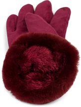 styleBREAKER Damen Unifarbene Touchscreen Stoff Handschuhe mit Fleece Futter und Ziernähten, warme Thermo Fingerhandschuhe, Winter 09010028 – Bild 30