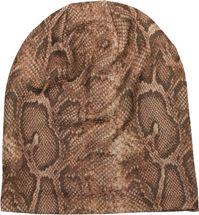 styleBREAKER Damen Beanie Mütze mit Schlange Python Muster und glitzernder Oberfläche, Slouch Longbeanie 04024174 – Bild 13