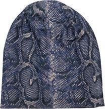 styleBREAKER Damen Beanie Mütze mit Schlange Python Muster und glitzernder Oberfläche, Slouch Longbeanie 04024174 – Bild 17