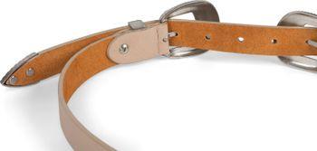 styleBREAKER Damen Vintage Gürtel mit doppelter verzierter Schnalle im Western Style, B-Low Belt, Taillengürtel, kürzbar 03010105 – Bild 9
