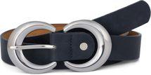styleBREAKER Damen Gürtel Unifarben mit runder doppelter Schnalle, Hüftgürtel, Taillengürtel, kürzbar 03010106 – Bild 5