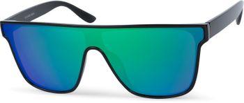 styleBREAKER Unisex Shield Monoglas Sonnenbrille, Polycarbonat Glas und Kunststoff Rahmen, Retro Nerd Style 09020108 – Bild 1