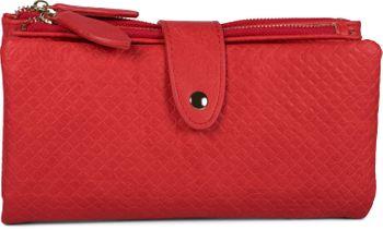 styleBREAKER Damen Portemonnaie mit Quadraten geprägter Oberfläche, Druckknopf, Reißverschluss Geldbörse, Retro Look 02040132 – Bild 11