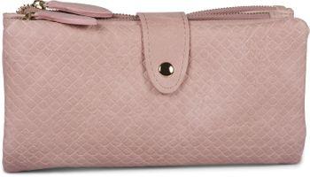 styleBREAKER Damen Portemonnaie mit Quadraten geprägter Oberfläche, Druckknopf, Reißverschluss Geldbörse, Retro Look 02040132 – Bild 13