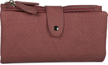 styleBREAKER Damen Portemonnaie mit Quadraten geprägter Oberfläche, Druckknopf, Reißverschluss Geldbörse, Retro Look 02040132 – Bild 15