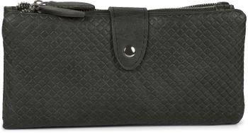 styleBREAKER Damen Portemonnaie mit Quadraten geprägter Oberfläche, Druckknopf, Reißverschluss Geldbörse, Retro Look 02040132 – Bild 19
