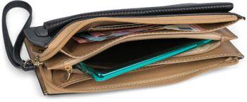 styleBREAKER Damen Portemonnaie mit Handyfach im Envelope Style mit V-förmiger Prägung, Reißverschluss, Geldbörse 02040133 – Bild 20