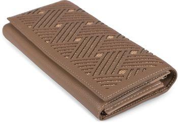 styleBREAKER Damen Geldbörse mit geometrischen Streifen Cutouts am Umschlag, Druckknopf Portemonnaie 02040137 – Bild 8