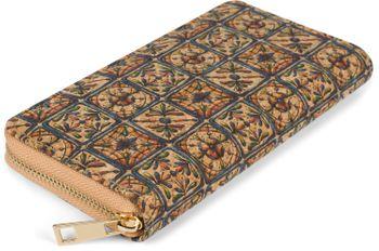 styleBREAKER Damen Geldbörse aus Kork mit buntem Muster Print im Ethno Look, Reißverschluss, Portemonnaie 02040138 – Bild 34