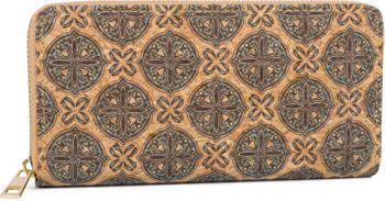 styleBREAKER Damen Geldbörse aus Kork mit buntem Muster Print im Ethno Look, Reißverschluss, Portemonnaie 02040138 – Bild 60