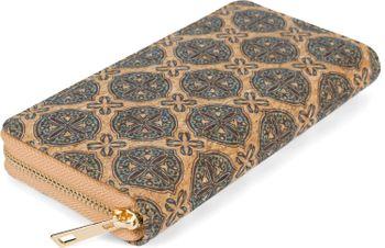 styleBREAKER Damen Geldbörse aus Kork mit buntem Muster Print im Ethno Look, Reißverschluss, Portemonnaie 02040138 – Bild 61