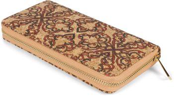 styleBREAKER Damen Geldbörse aus Kork mit buntem Muster Print im Ethno Look, Reißverschluss, Portemonnaie 02040138 – Bild 65