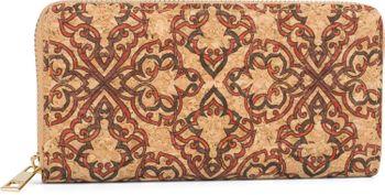 styleBREAKER Damen Geldbörse aus Kork mit buntem Muster Print im Ethno Look, Reißverschluss, Portemonnaie 02040138 – Bild 63