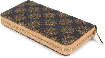 styleBREAKER Damen Geldbörse aus Kork mit buntem Muster Print im Ethno Look, Reißverschluss, Portemonnaie 02040138 – Bild 71
