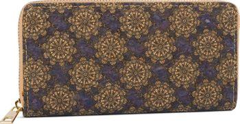 styleBREAKER Damen Geldbörse aus Kork mit buntem Muster Print im Ethno Look, Reißverschluss, Portemonnaie 02040138 – Bild 69