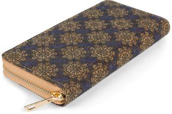 styleBREAKER Damen Geldbörse aus Kork mit buntem Muster Print im Ethno Look, Reißverschluss, Portemonnaie 02040138 – Bild 70
