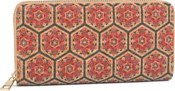 styleBREAKER Damen Geldbörse aus Kork mit buntem Muster Print im Ethno Look, Reißverschluss, Portemonnaie 02040138 – Bild 75