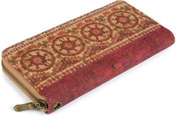 styleBREAKER Damen Geldbörse aus Kork mit buntem Muster Print im Ethno Look, Reißverschluss, Portemonnaie 02040138 – Bild 85