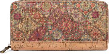 styleBREAKER Damen Geldbörse aus Kork mit buntem Muster Print im Ethno Look, Reißverschluss, Portemonnaie 02040138 – Bild 7