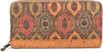 styleBREAKER Damen Geldbörse aus Kork mit buntem Muster Print im Ethno Look, Reißverschluss, Portemonnaie 02040138 – Bild 9