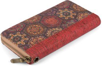 styleBREAKER Damen Geldbörse aus Kork mit buntem Muster Print im Ethno Look, Reißverschluss, Portemonnaie 02040138 – Bild 14