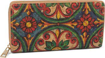 styleBREAKER Damen Geldbörse aus Kork mit buntem Muster Print im Ethno Look, Reißverschluss, Portemonnaie 02040138 – Bild 11