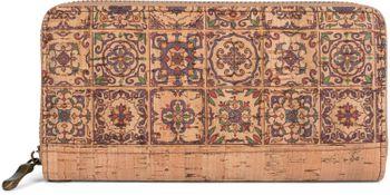 styleBREAKER Damen Geldbörse aus Kork mit buntem Muster Print im Ethno Look, Reißverschluss, Portemonnaie 02040138 – Bild 5