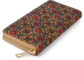 styleBREAKER Damen Geldbörse aus Kork mit buntem Muster Print im Ethno Look, Reißverschluss, Portemonnaie 02040138 – Bild 20