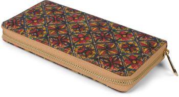 styleBREAKER Damen Geldbörse aus Kork mit buntem Muster Print im Ethno Look, Reißverschluss, Portemonnaie 02040138 – Bild 21