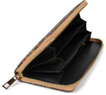 styleBREAKER Damen Geldbörse aus Kork mit buntem Muster Print im Ethno Look, Reißverschluss, Portemonnaie 02040138 – Bild 22