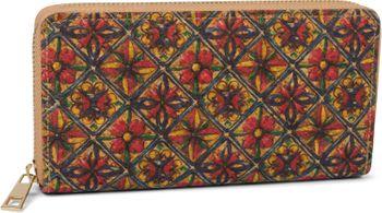styleBREAKER Damen Geldbörse aus Kork mit buntem Muster Print im Ethno Look, Reißverschluss, Portemonnaie 02040138 – Bild 19